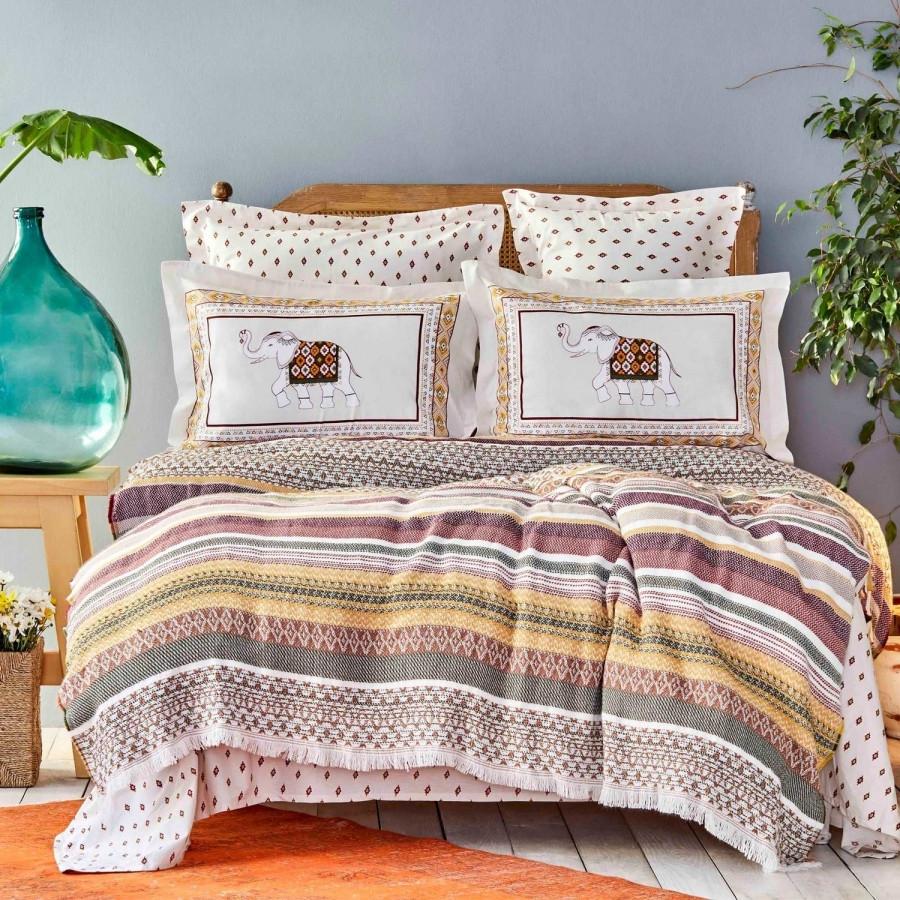 Постельное белье Karaca Home - Putisca multi pike jacquard 200*220 евро