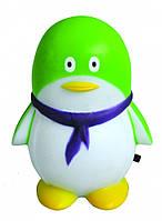 Ночник детский зеленый (светильник ночник зеленый) пингвин  4LED,Watc