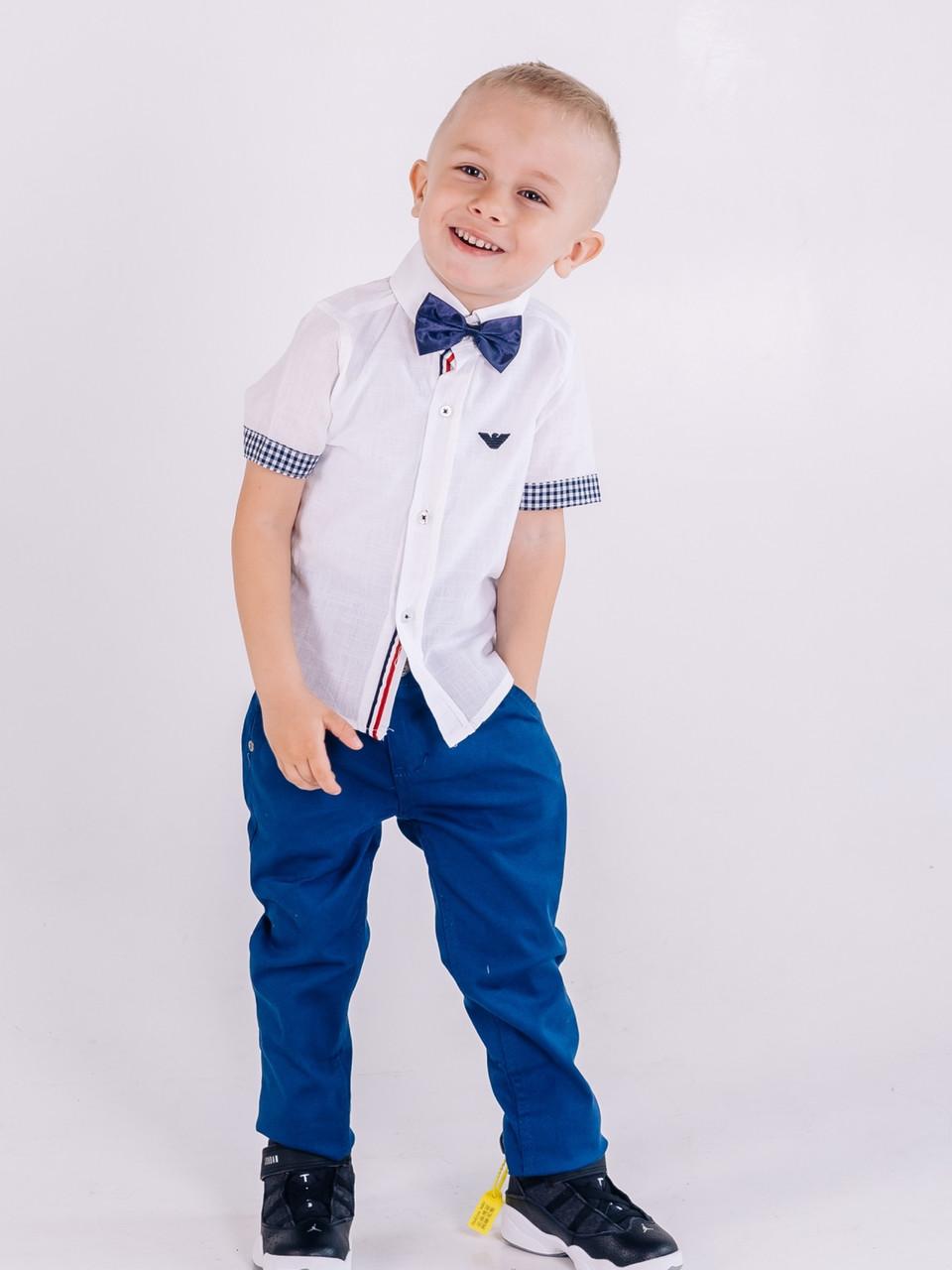 Синие брюки джинсы Armani для мальчика 3,4,5 лет