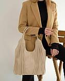 Женская сумка «Хелен» бежевая плетеная, фото 2