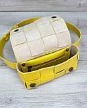 Женская сумка клатч на пояс «Энди» плетеная желтая, фото 5
