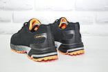 Мужские лёгкие повседневные кроссовки черные сетка Classica, фото 3