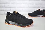 Чоловічі легкі літні кросівки чорні сітка Classica, фото 2
