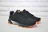 Мужские лёгкие повседневные кроссовки черные сетка Classica, фото 5