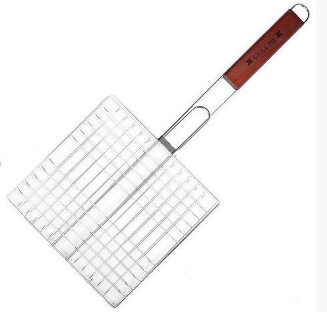 Решетка для гриля 25х25 с деревянной ручкой