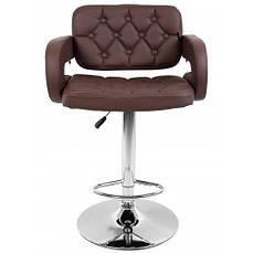 Барний стілець зі спинкою Bonro B-823A коричневий