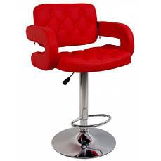 Барний стілець зі спинкою Bonro B-823A червоний
