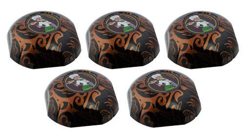 """Фото: кнопки вызова официанта HCM-350 Totem Girl - 5 штук - комплект системы вызова RECS """"5 девочек Макси"""""""