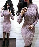 Сукня тепле в'язка з візерунком MR158, фото 5