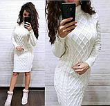 Сукня тепле в'язка з візерунком MR158, фото 2