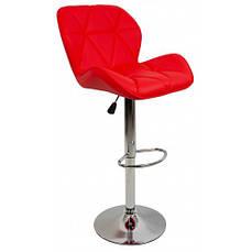 Барний стілець зі спинкою Bonro B-868M червоний