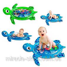Надувний дитячий розвиваючий водний килимок Черепашка, фото 3