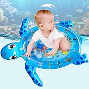 Надувной детский развивающий водный коврик Черепашка