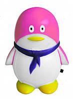 Ночник детский розовый (светильник ночник розовый) пингвин  4LED,Watc