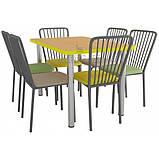 Комплект для столовой: стол ХРОМ и 6 стульев АРФО, фото 3