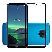 Защитное стекло LUX для Nokia 1.4 Full Сover черный 0,3 мм в упаковке