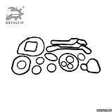 Meriva A Прокладки теплообменника Opel 1.6 2724577 24445723 55354071 55354072, фото 2