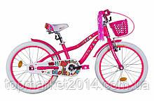 "Дитячий велосипед з кошиком AL FORMULA CREAM 20"" (малиновий)"