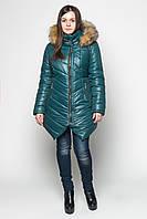 Женская зимняя куртка очень тёплая изумруд