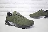 Мужские лёгкие летние кроссовки сетка хаки Classica, фото 3