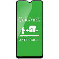 Защитное стекло-пленка Fiji Ceramics для Nokia 1.4 черный Full Glue 0,26 мм в упаковке