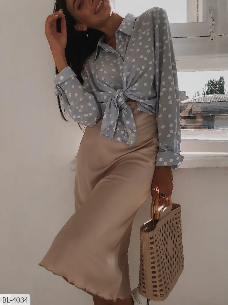 Шелковая летняя юбка