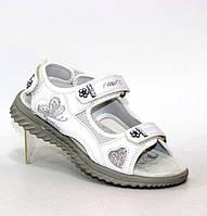 Белые сандалии на липучках для девочек подростков