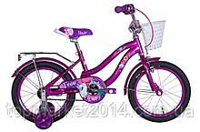 """Дитячий велосипед FORMULA FLOWER 16"""" з кошиком (фіолетовий)"""