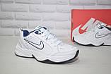 Чоловічі білі шкіряні кросівки в стилі Nike Air Max, фото 4