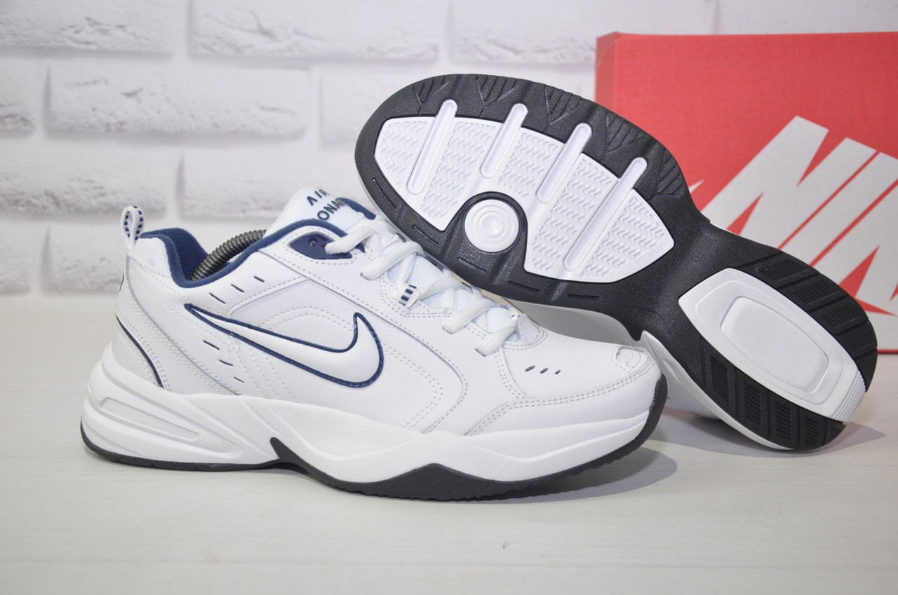 Чоловічі білі шкіряні кросівки в стилі Nike Air Max