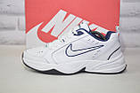 Чоловічі білі шкіряні кросівки в стилі Nike Air Max, фото 2