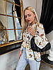 Женская стильная блузка с V-образным декольте
