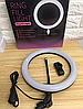 Кольцевая светодиодная лампа RING FILL LIGHT диаметром 26 см с держателем телефона, питание от usb без штатива, фото 3