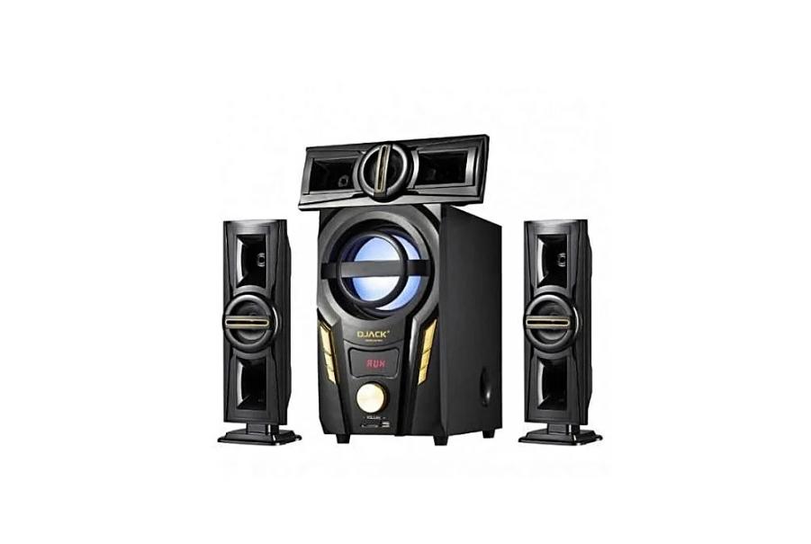 Акустическая система комплект 3.1 DJACK E-703A (USB/FM-радио/Bluetooth) 60 Вт