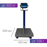 Весы на 300 кг платформа 400*500 с подключением к ПК и складной стойкой