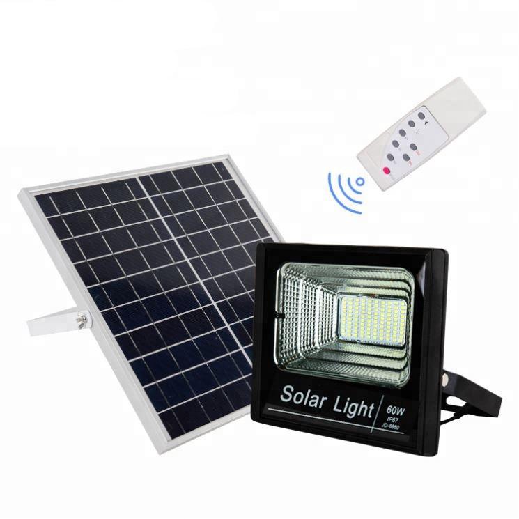 Прожектор JINDIAN  JD-8860 60W SMD, IP67, солнечная батарея, пульт ДУ, встроенный аккумулятор