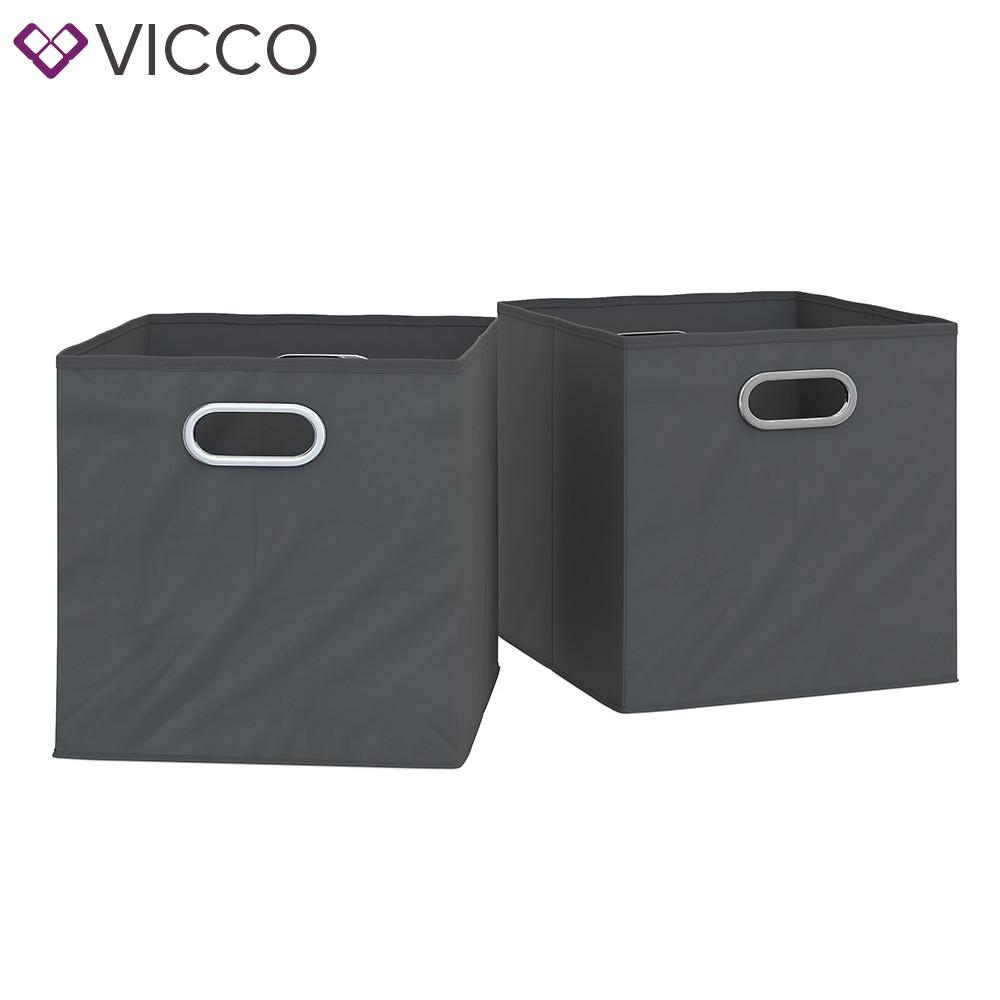 Складные коробки для хранения Vicco, 2 шт., антрацит