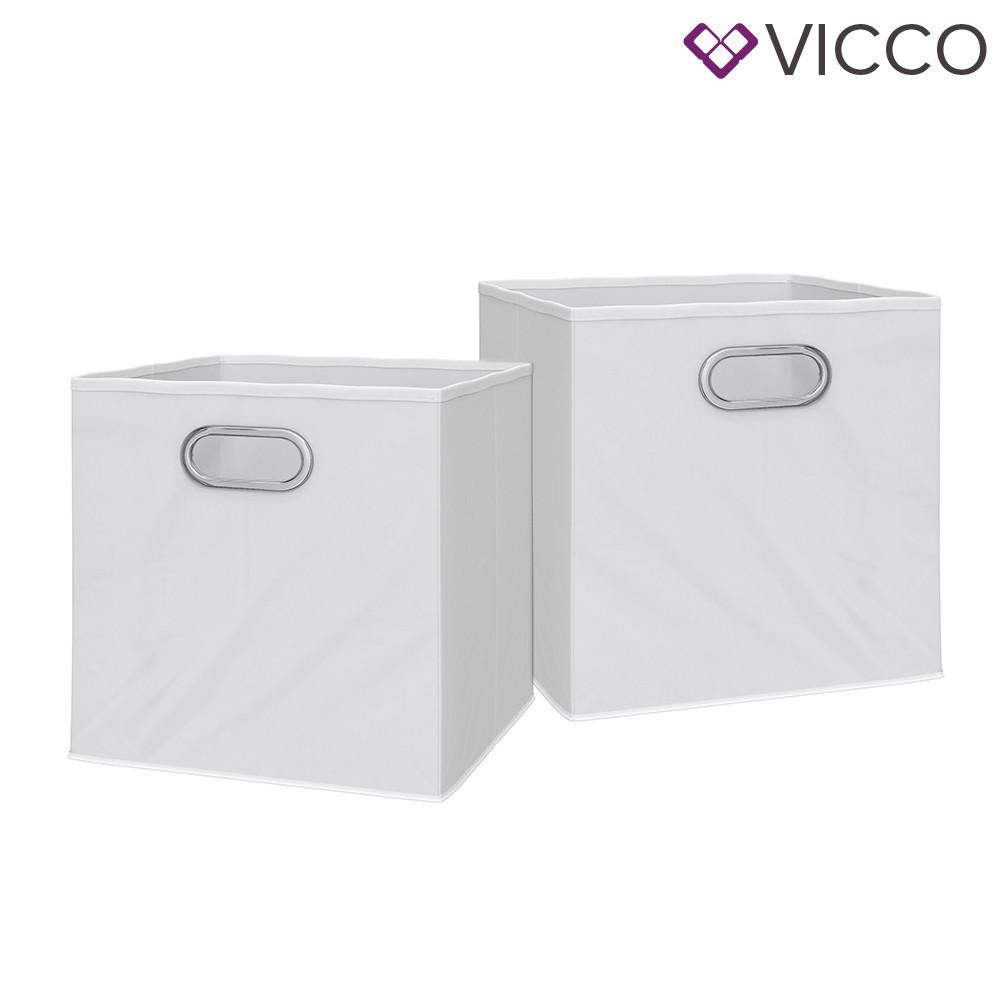 Складані коробки для зберігання Vicco 2 шт., білі