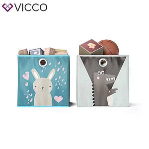 Ящики для хранения Vicco, 2 шт., заец, крокодил