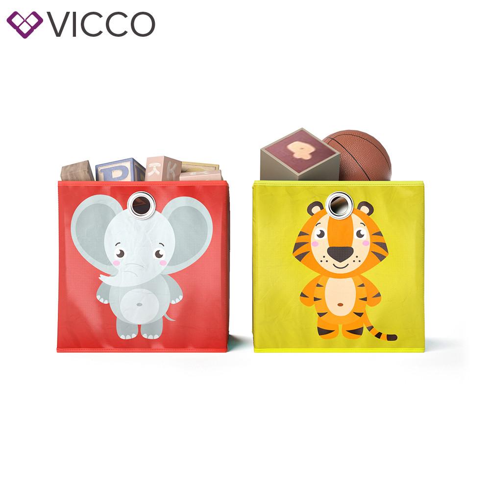 Ящики для хранения Vicco, 2 шт., слон, тигр