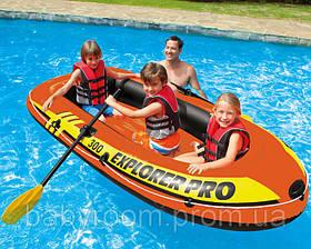 Intex надувний човен 58358 Explorer Pro 300 (244-117-34 см)