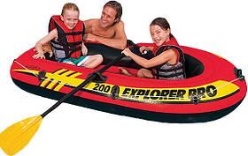 Надувний човен Explorer Pro Intex 58357 з веслами і насосом