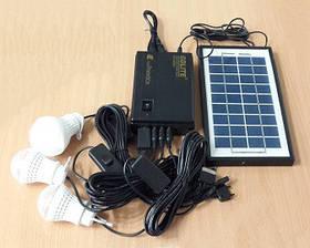 Портативна сонячна система GDLITE GD-8365 (сонячна батарея, 3 світлодіодні лампи, акумулятор)