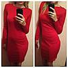 Однотонное трикотажное платье (разные цвета), фото 4