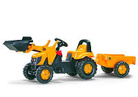 Трактор педальный с ковшом Kid JCB Rolly Toys 23837
