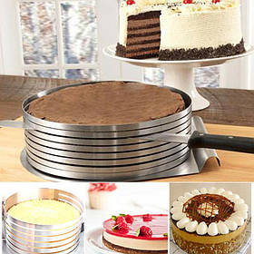 Кондитерське кільце для рівного нарізки коржів торта Cake Slicing Ring