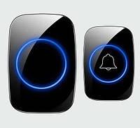 Дверной звонок с светодиодной подсветкой, беспроводной, водонепроницаемый