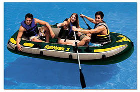 Intex надувний човен 68349 SeaHawk Тримісна