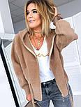 Женское полупальто из кашемира с капюшоном, фото 2