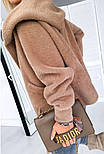 Женское полупальто из кашемира с капюшоном, фото 3